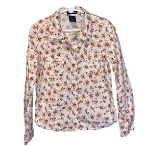 Gap Kids Floral Button-Down Blouse - S (5/6)